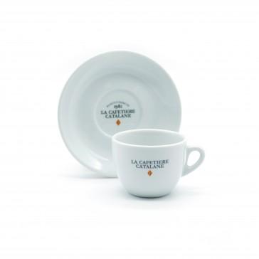 Tasse et Sous-tasse Allongé